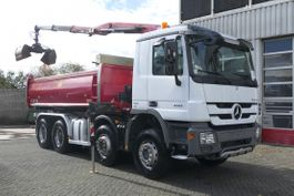 kipper vrachtwagen > 7.5 t Mercedes-Benz Actros 4141 8X4 2 SIDED TIPPER AND HMF CRANE WITH RADIO FULL NEW TYRES 100% 2013
