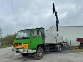 platform vrachtwagen Steyr 19 S 24, 6 Zylinder, Full Steel, Hiab Kran 1990