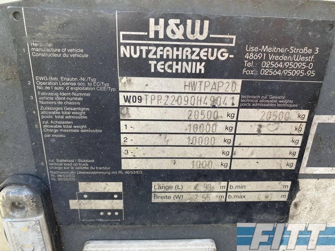 platte aanhanger vrachtwagen Diversen H&W 2 ass ballast aanhanger 2009