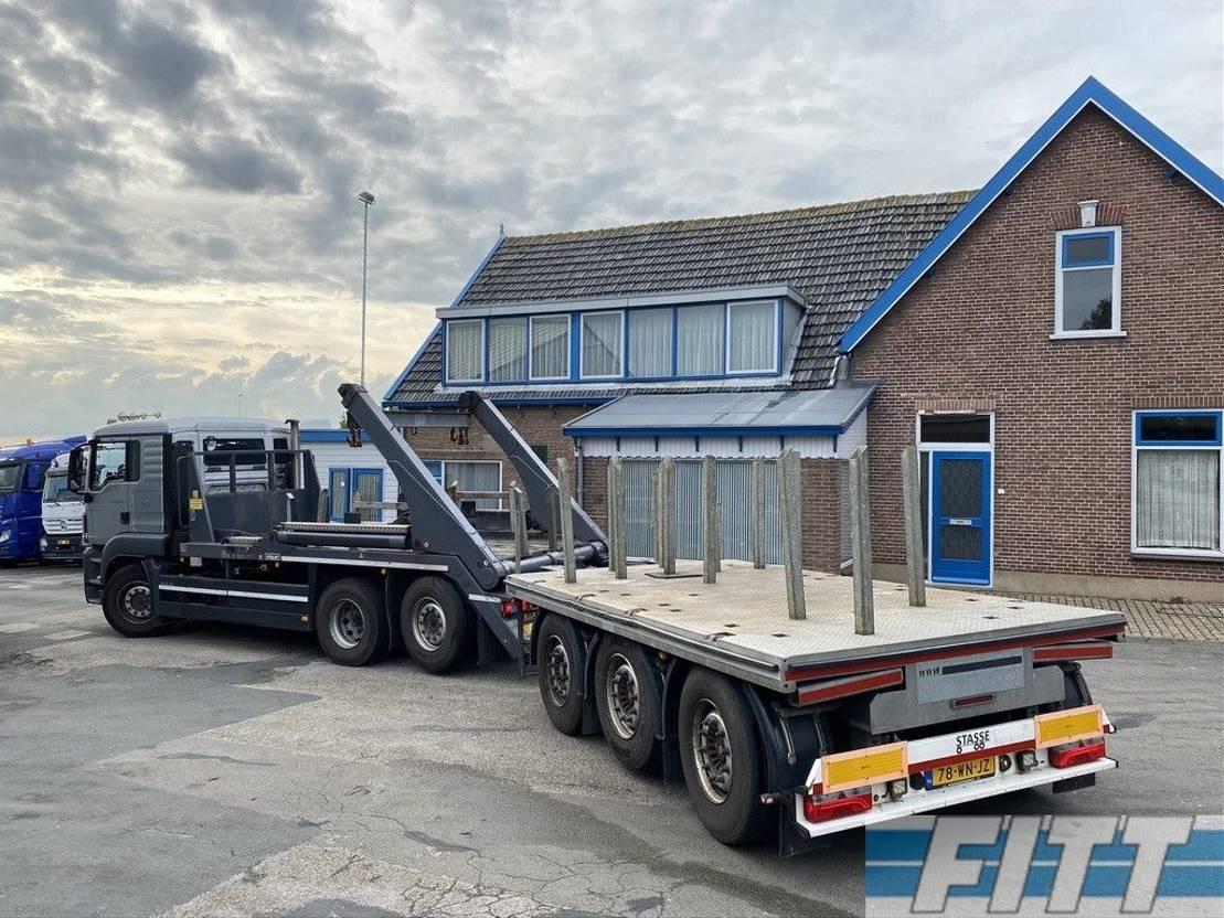 platte aanhanger vrachtwagen Diversen H&W 3 ass ballast aanhanger, liftas, stuuras 2015