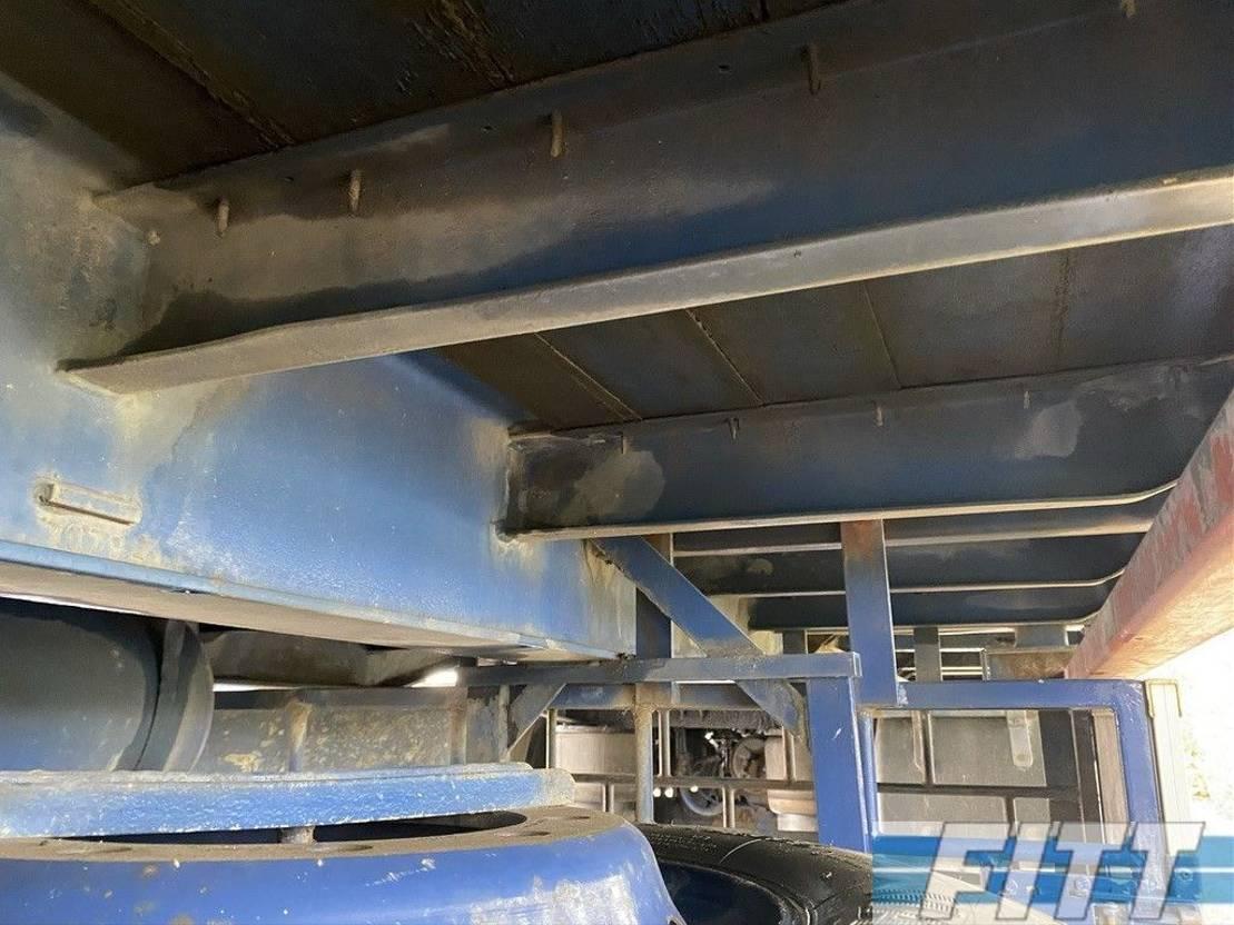 platte aanhanger vrachtwagen Floor FLA 10 101 2 ass schamel ahw - hardhouten vloer 1994