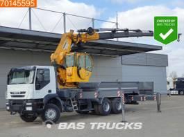 platform vrachtwagen Iveco Trakker 450 6X4 Manual Big-Axle Euro 4 Hidrokon HK 90 YKL6 2009