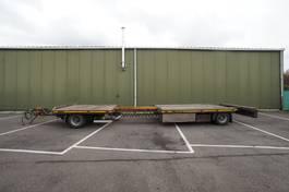 platte aanhanger vrachtwagen DRACO 2 FLATBED TRAILER EXTENDABLE 2X 2004