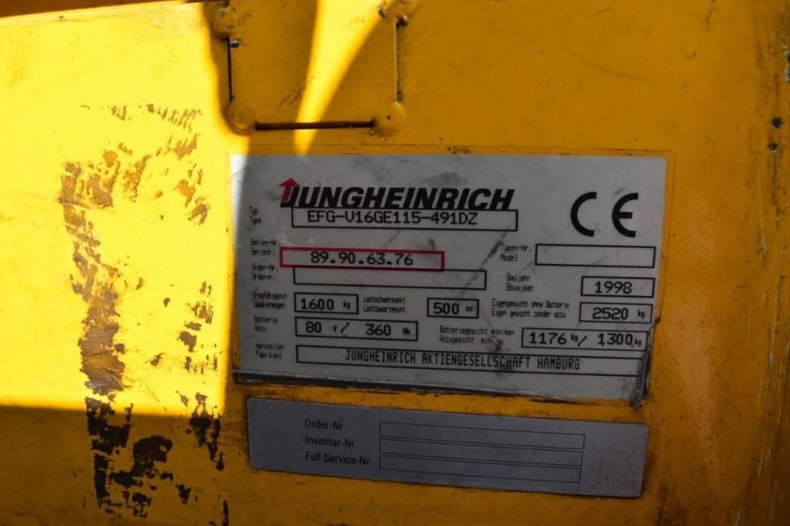 vorkheftruck Jungheinrich EFG-U16 1998