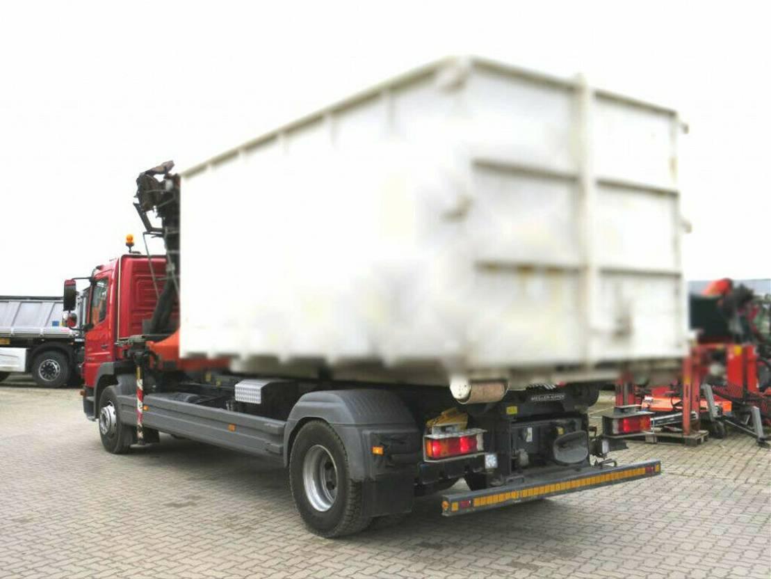 containersysteem vrachtwagen Mercedes-Benz Atego 1529 L Abrollkipper mit Kran 2012