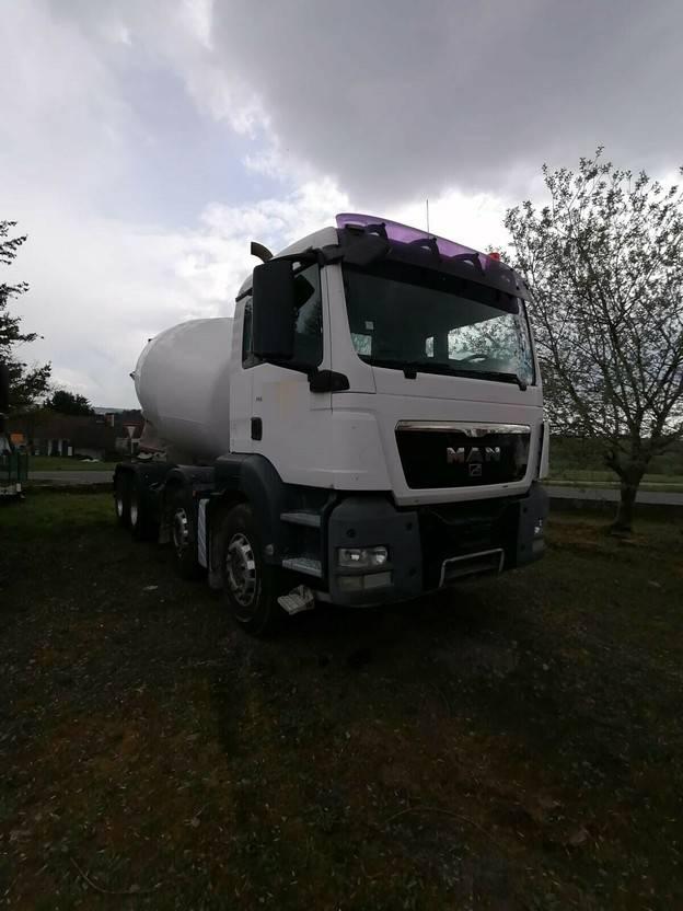 betonmixer vrachtwagen MAN TGS 32 8x4 BB - 9 cbm- STANDORT BITBURG 2009