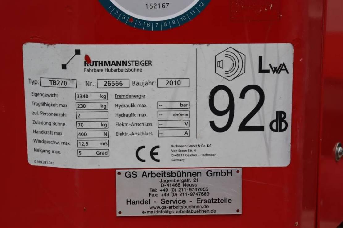 autohoogwerker vrachtwagen Ruthmann TB270 Valid inspection, *Guarantee! Driving Licenc 2010