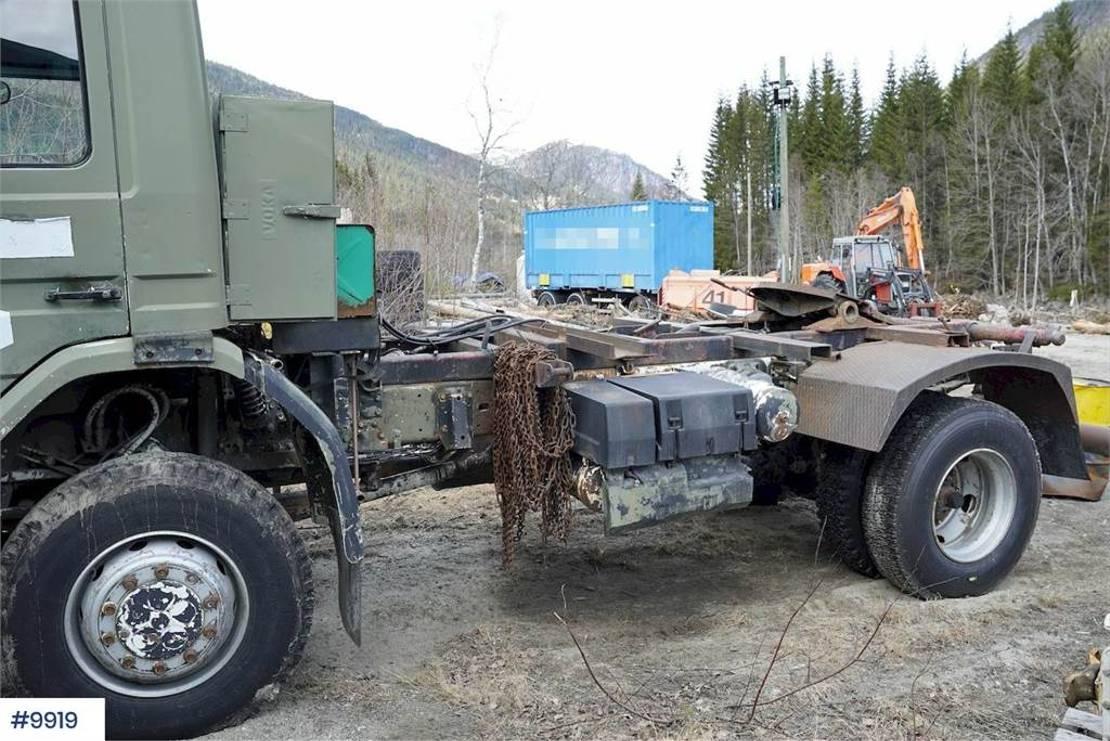 chassis cabine vrachtwagen Scania P92 4x4 1988
