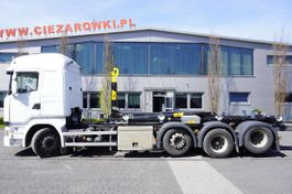 containersysteem vrachtwagen Scania R490 , E6 , 8X2-4 , tridem , NEW HOOK 22T HYVA , chassis 9m , re 2015