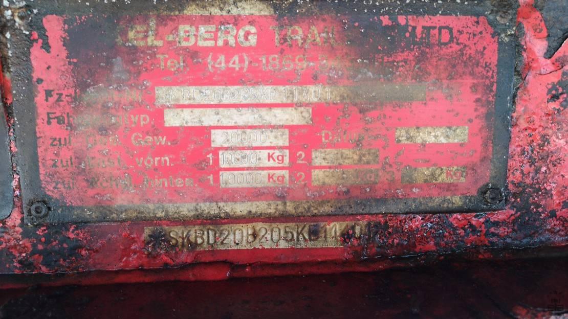 platte aanhanger vrachtwagen Kel-Berg D81v 2005