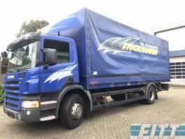 huifzeil vrachtwagen Scania P230 MANUAL - huif met klep 2008
