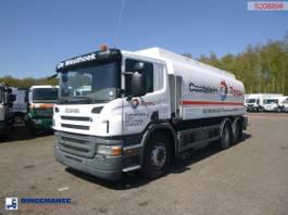 tankwagen vrachtwagen Scania P380 6X2 fuel tank 20.6 m3 / 4 comp + dual pump/counter/hoses 2009