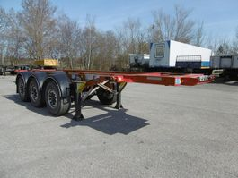 chassis oplegger Fliegl 3 Achs Container Chassis 20Fuss Heckbündig Alu 2016