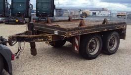 platte aanhanger vrachtwagen Goldhofer Tandem 13 to Absetz Container BPW blatt 1996