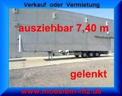 overige opleggers Meusburger MPS-3 3 Achs Tele- Sattelauflieger, 7,40 m ausziehbar, gelenkt 2010
