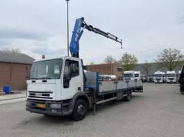 platform vrachtwagen Iveco Euro Cargo ML120E18P - EURO 2 - HMF 8meter - Kran/crane - TOP CONDITION 1998