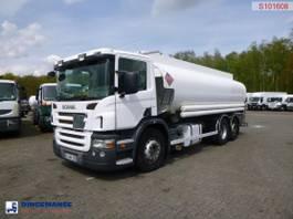 tankwagen vrachtwagen Scania P380 LB 6x2 fuel tank 20.6 m3 / 6 comp 2005