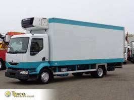 koelwagen vrachtwagen Renault Midlum 180 DCI + Dhollandia Lift + Carrier Supra 750 Mt 2005