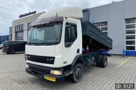 kipper vrachtwagen > 7.5 t DAF LF 55 Day Cab, Euro 3, // Full steel // Manual Gearbox // Tipper 2002