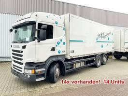bakwagen vrachtwagen Scania R450 LB 6x2-4 R450 LB 6x2-4 Getränkekoffer, Retarder, Lift-/Lenkachse, Staple... 2014