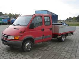 platform bedrijfswagen Iveco Daily 50 C 13 Daily 50 C 13 4x2 Doka,3,4 m Pritsche, AHK, SHZ 2001