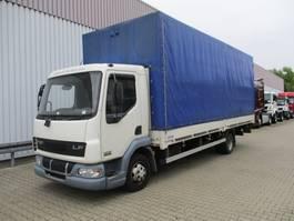 platform vrachtwagen DAF AE 45.150 LF Plane Spriegel LBW DAF AE 45.150 LF 4x2, Plane Spriegel LBW 2002