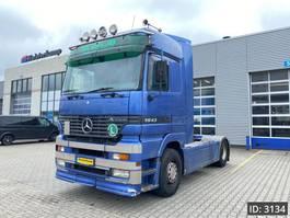 standaard trekker Mercedes-Benz Actros 1843 F04, Euro 2, EPS 3pedals - Retarder - 2x Tank - Good condition, Intarder 2001