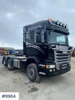 standaard trekker Scania G490 4x4+2 truck w/ hydraulics and snow riged 2016