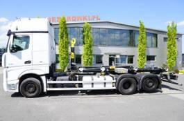 containersysteem vrachtwagen Mercedes-Benz Actros 2548 , E6, 6X2, NEW HOOK 22T HYVA , retarder, GIGASPACE , 2018