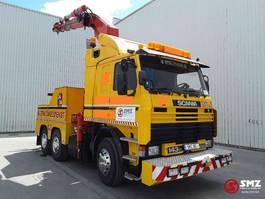 takelwagen-bergingswagen-vrachtwagen Scania 142 420 40T crane 1986