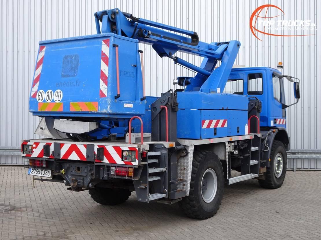 autohoogwerker vrachtwagen Iveco 135E23 4x4 - 16 mtr. Hoogwerker, Platform, Hubarbeitsbuhne 2001