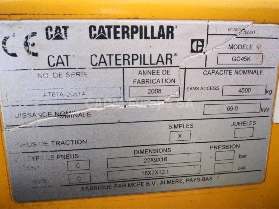 vorkheftruck Caterpillar GC45 2008