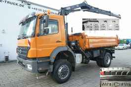 kipper vrachtwagen > 7.5 t Mercedes-Benz Axor 1833 AK 4x4 2-Achs Allradkipper Kran Funk G 2006