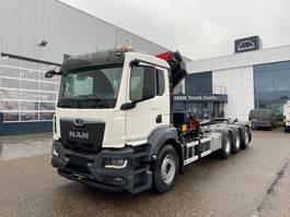 containersysteem vrachtwagen MAN New Generation 35.470 8x4-4 BL-NN HMF 2320 K4 & K5 kraan+containerhaak 2021