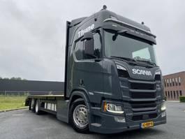 open laadbak vrachtwagen Scania R650 V8 6x2 car/machine transporter lease v.a. 1770€ p.m. 2018