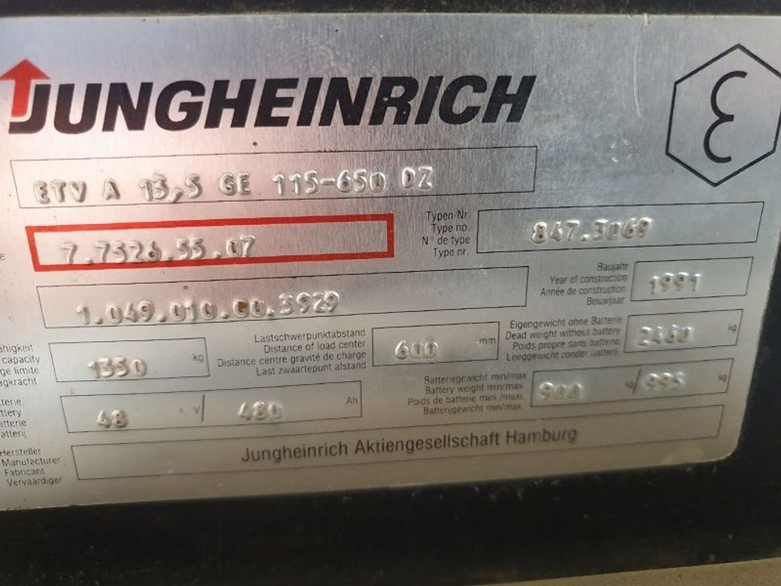 vorkheftruck Jungheinrich heftruck