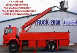 overige vrachtwagens MAN 18.280 4x4 Feuerwehr 25m Bühne 1500l Tank CRohr 2004