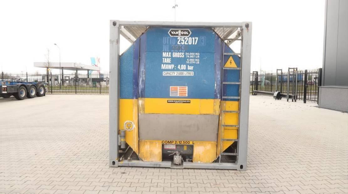 tankcontainer Van Hool 25.000L TC, 2 comp.(12.500L/12.500L), UN PORTABLE, T11, valid 2.5y insp. 08/2021 1995