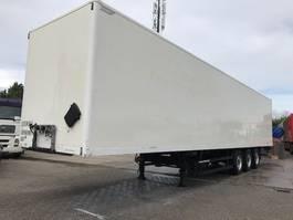 gesloten opbouw oplegger spier kasten trailer / boxtrailer met laadklep 2007
