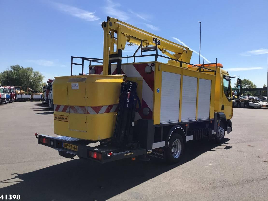 autohoogwerker vrachtwagen DAF 45 CF 180 Custers 11 meter hoogwerker + Hiab 1,3 ton/meter laadkraan 2004