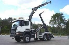 kraanwagen Scania P 6x6 Crane Kran HMF 2020 Hooklift . 2013