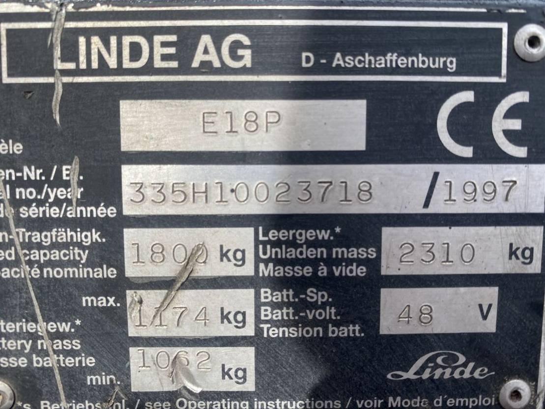 vorkheftruck Linde E18P 1997