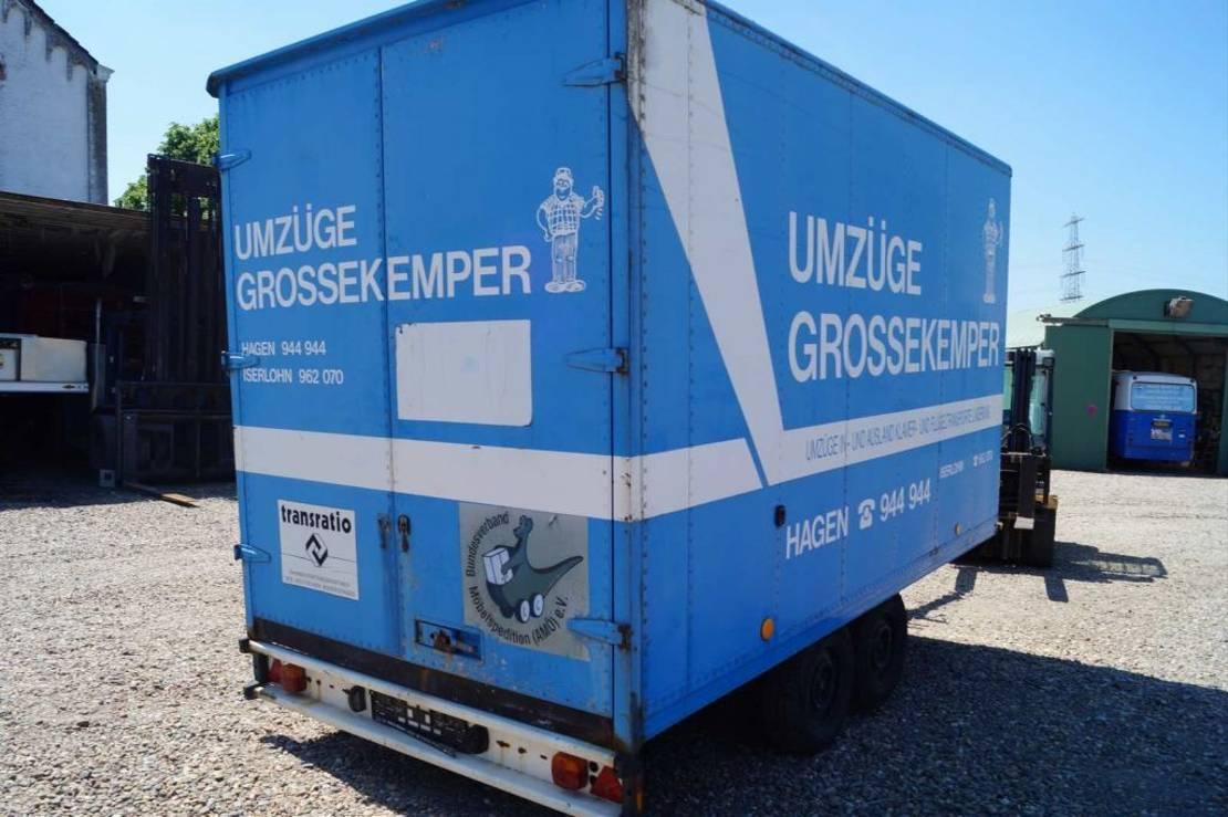 gesloten opbouw aanhanger Kaiser 2-assige aanhangwagen 1989