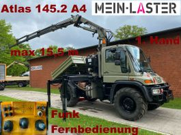 kipper vrachtwagen > 7.5 t Unimog U 400 Seilwinde Atlas 145.2 A4 15.5 m Funk FB 2004