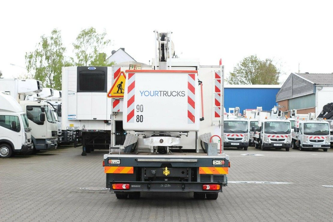autohoogwerker vrachtwagen Renault Midlum 220 220Dxi Bühne 192CPM 19m/2P.Korb 265kg/TOP 2013
