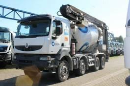betonmixer vrachtwagen Renault Kerax 410 8x4 / Band12m/ Mischer 9m³ 2009
