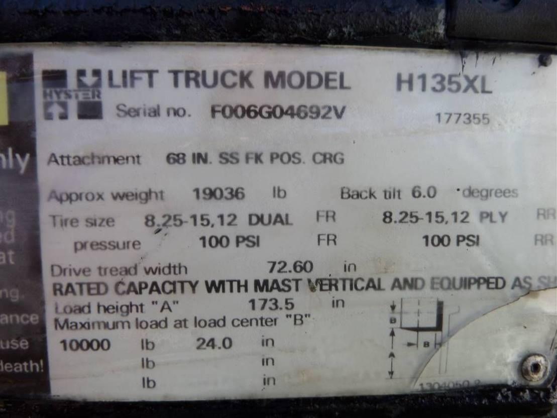 vorkheftruck Hyster H 135 XL 1996