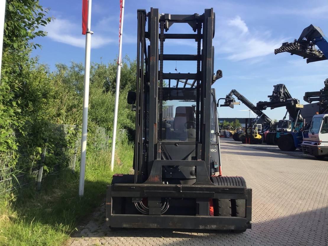 vorkheftruck Linde h80t-02/900 4 whl counterbalanced forklift <10t 2014