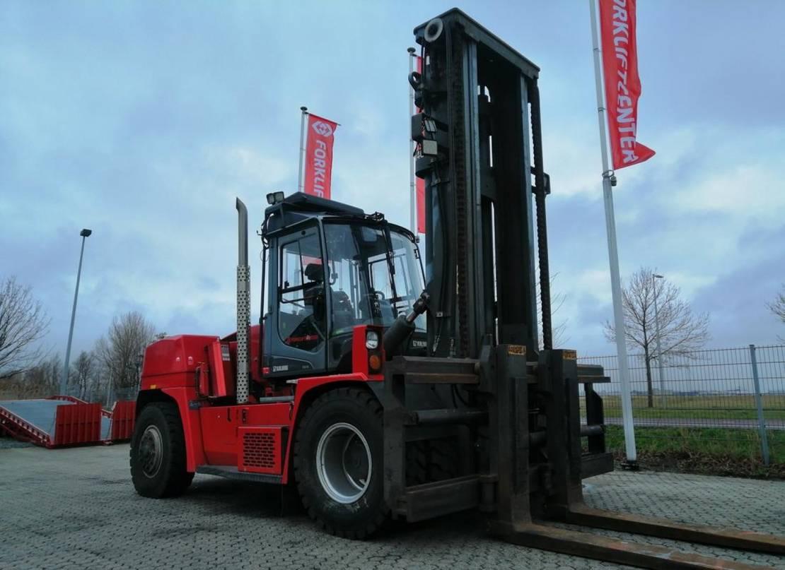 vorkheftruck Kalmar dcg 150-12 4 whl counterbalanced forklift >10t 2014