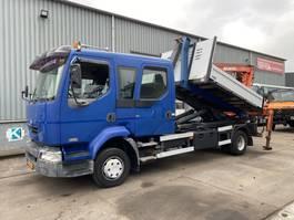 containersysteem vrachtwagen Renault MIDLUM 220 DCI 4X2 MANUAL + CONTAINER + ATLAS 80.1 CRANE 2002